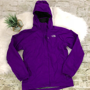 The North Face Girls Purple Hyvent Rain Jacket XL